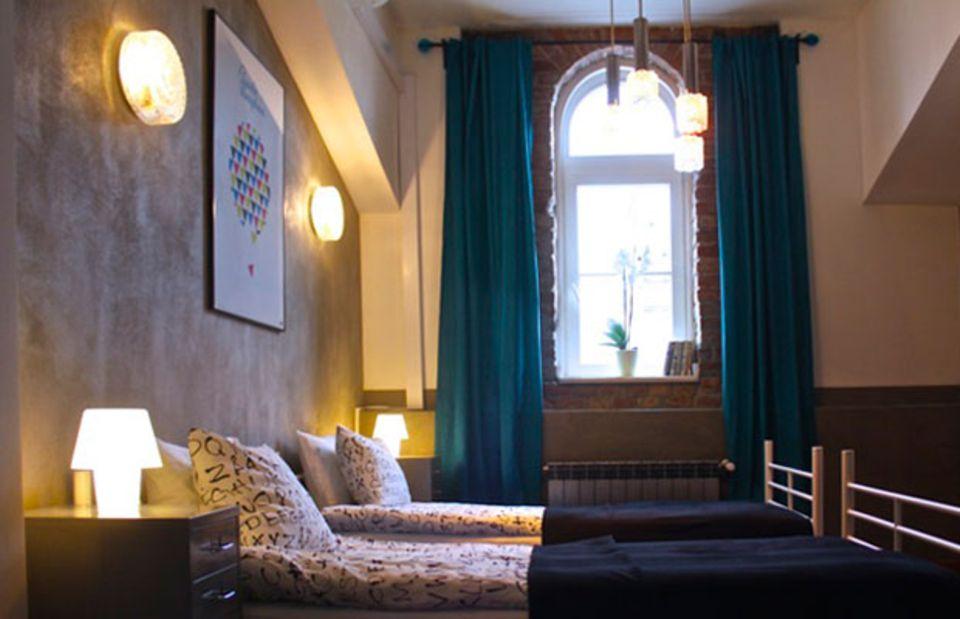 """""""Dolce vita"""" heißt dieses schöne Zimmer im """"Hotel Stalowa""""."""