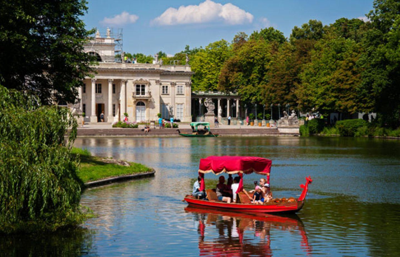 Bootstour vor dem Wasserschlossim Łazienki Park