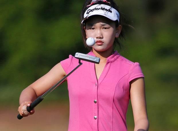 """""""Ich will Spaß haben und so gut spielen, wie ich kann"""", sagte die elfjährige Amateurgolferin Lucy Li kurz vor dem Start der 69. US Open in Pinehurst, North Carolina."""