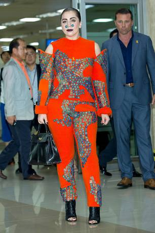 #Bodyrevolution: Musikerin Lady Gaga am 15. August 2014 am Flughafen von Seoul
