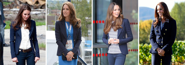 blaue blazer kate middleton und der blaue blazer es ist liebe. Black Bedroom Furniture Sets. Home Design Ideas