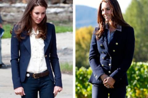 Kate Middleton und der blaue Blazer - es ist Liebe!