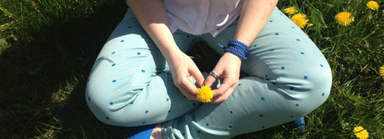 Jeans bedrucken - Polka-Dots für gute Laune