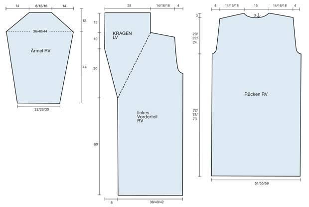 Strickmuster: Langer Mantel: Strickanleitung und Muster
