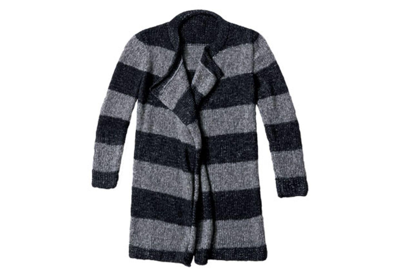Blockstreifen-Jacke stricken - Anleitung und Muster