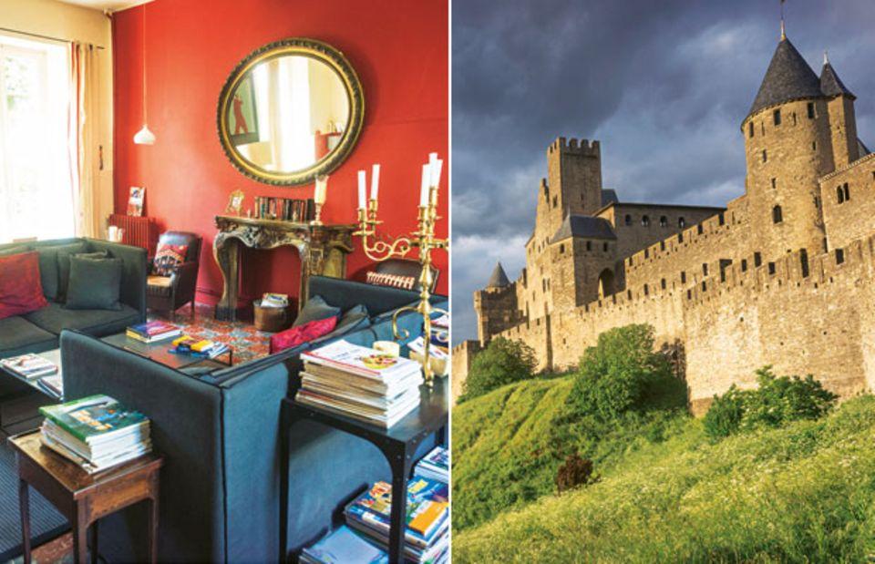 Métairie Montplaisir & Festung in Carcassonne