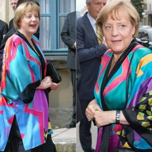 Mut zur Farbe! Kanzlerin trägt Kult-Kimono bei Salzburger Festspielen