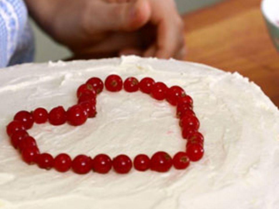 Torte mit Frischkäsecreme