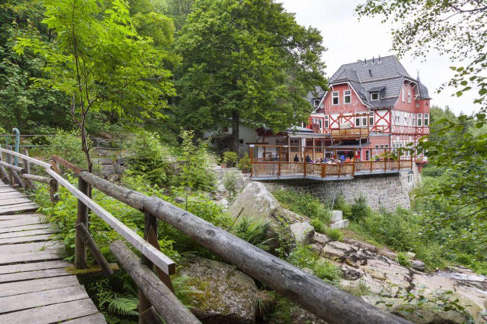 """Fast am Ziel: Das Gasthaus """"Steinerne Renne"""" im Harz"""