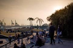 Extra ans Mittelmeer fahren? An der Elbe gibt's doch auch Palmen ...