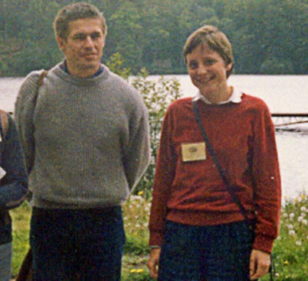 Da waren sie noch nicht verheiratet: Angela Merkel und Joachim Sauer