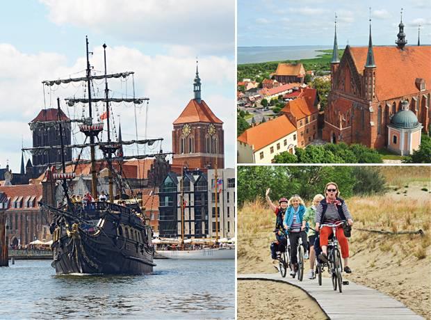 Radtour: Der alte Hafen von Danzig, das Städtchen Frombork & radeln auf der Kurischen Nehrung