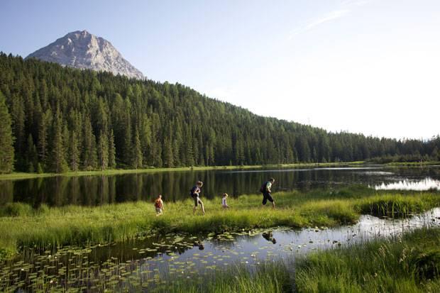 Naturkleinod im Tiroler Oberland: Der Schwarze See.