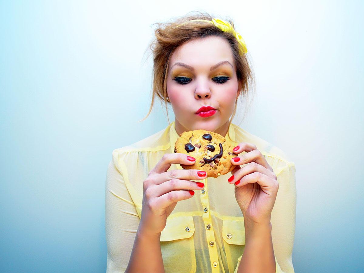So hörst du nach nur einem Keks auf zu essen