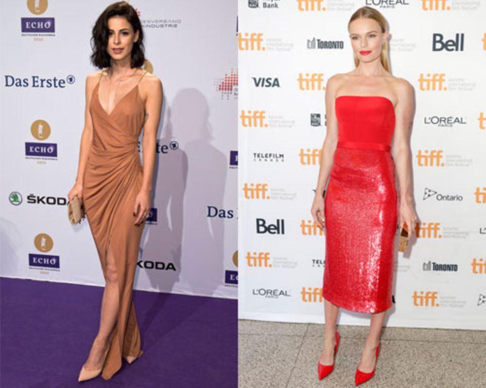 Mit ihrer zarten Figur zählen Lena Meyer-Landrut und Kate Bosworth zum ektomorphen Typ.