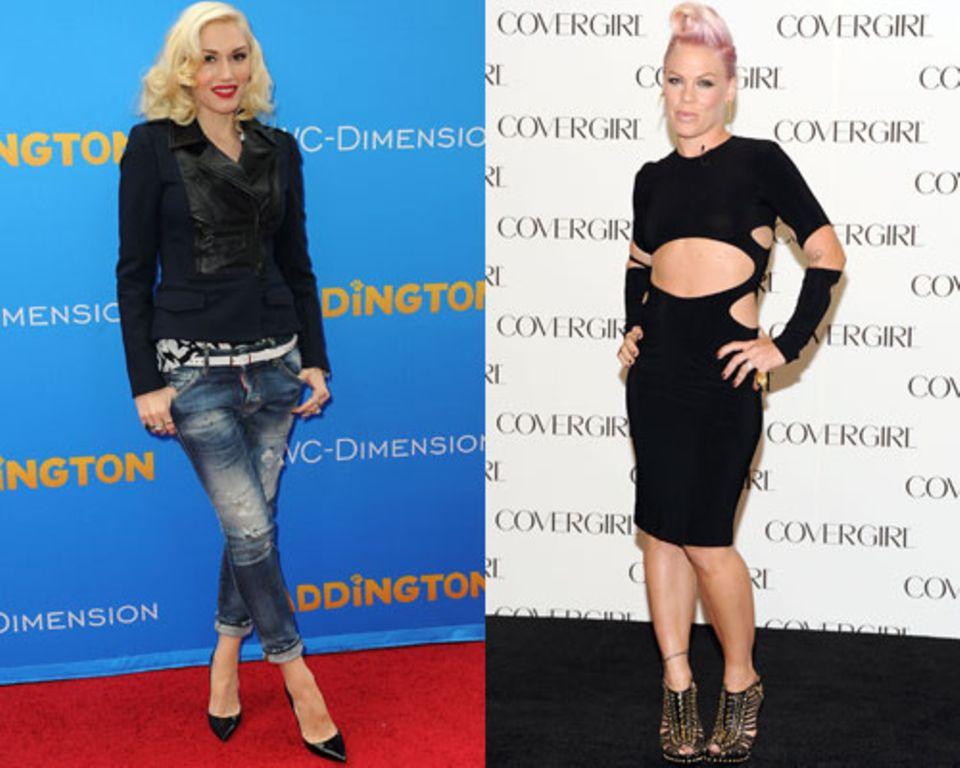 Powerfrauen wie Gwen Stefani und Pink gehören zum mesomorphen Typ.
