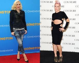 Körperbau: Powerfrauen wie Gwen Stefani und Pink gehören zum mesomorphen Typ.