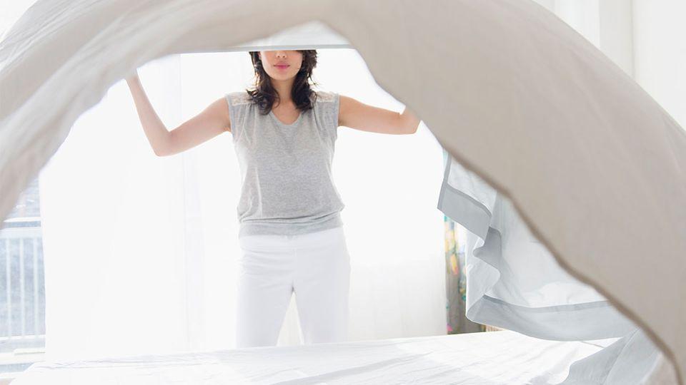 Bettwäsche wechseln: Wie oft?