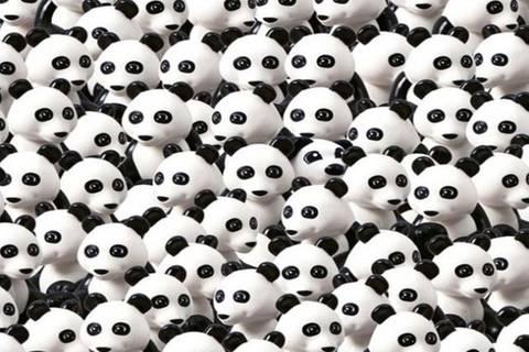 Findest du den versteckten Hund unter den Pandabären?