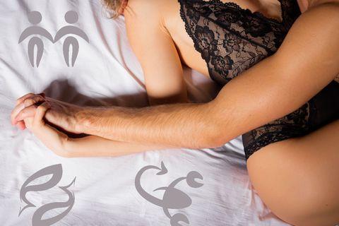 Astro-Sex: Mann und Frau beim Sex
