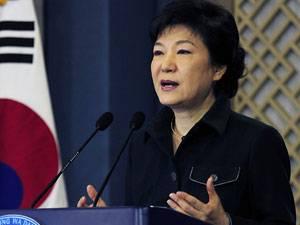 Kriegsdrohungen aus Pjöngjang: Die erste Präsidentin Südkoreas: Park Geun-hye