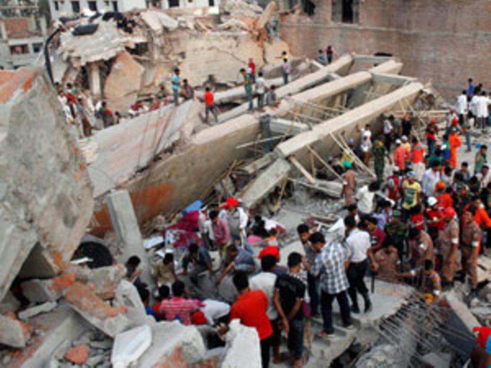"""Das eingestürzte Fabrikgebäude """"Rana Plaza"""" nahe Dhaka"""