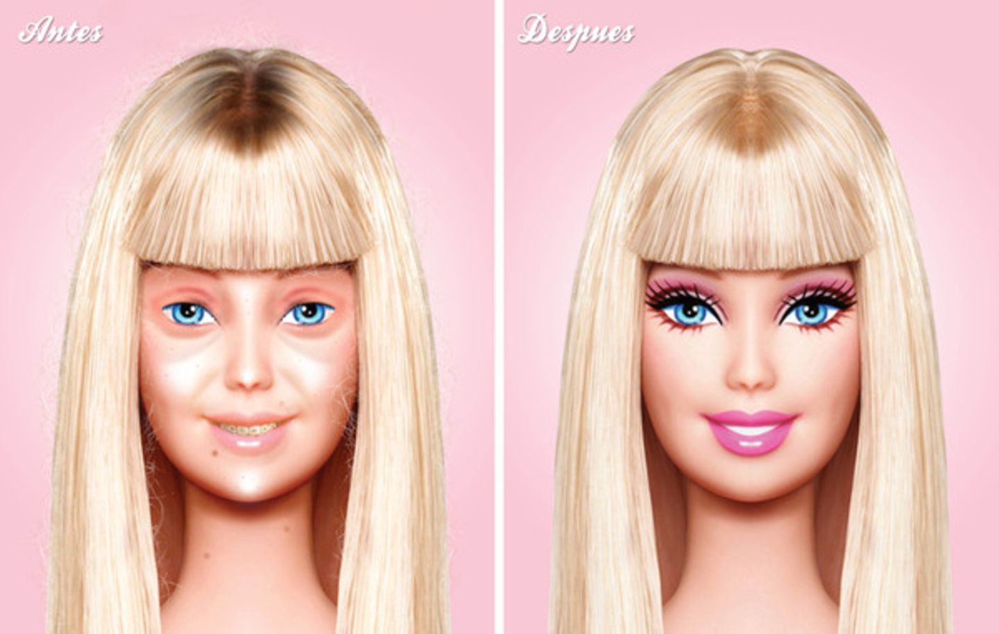 Barbie ohne Make-Up