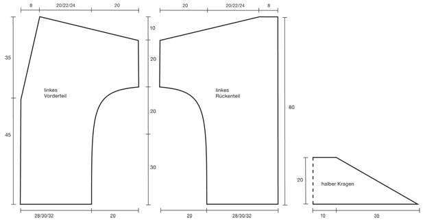 Strickmuster: Strickjacke mit Gürtel stricken - eine Anleitung