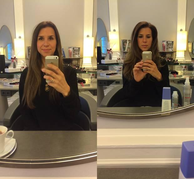 Ausprobiert: Der Vorher-Nachher-Vergleich: Aus glatten Haaren werden Glamour-Wellen.