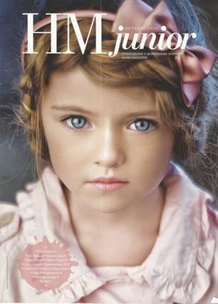 """Kindermodel Kristina Pimenova: 2011 war Kristina Pimenova auf dem Titel von """"HM Junior"""" zu sehen"""