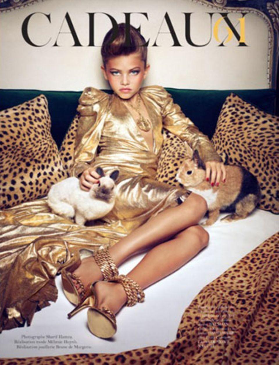 """Die damals 10-jährige Thylane Blondeau in einer Fotostrecke der """"Vogue Paris"""""""