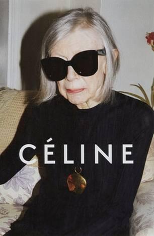 Kampagne: Joan Didion modelt für Céline
