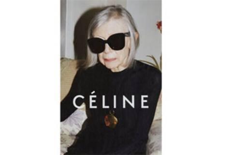 Joan Didion modelt für Céline