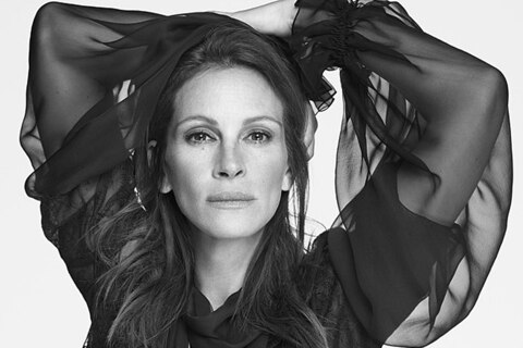 Julia Roberts modelt für Givenchy