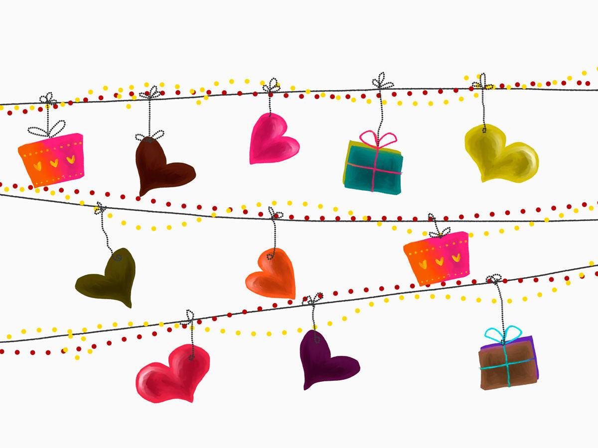 Geschenke verpacken, die von Herzen kommen