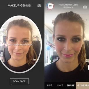 """Die """"Makeapp"""" zeigt, wie Stars ungeschminkt aussehen"""