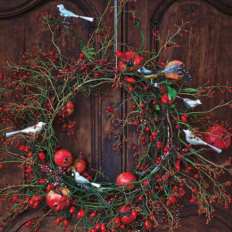 Türkranz für Weihnachten basteln – so einfach geht's
