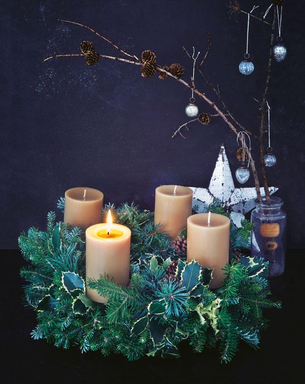 adventskranz selber basteln einfache anleitung. Black Bedroom Furniture Sets. Home Design Ideas