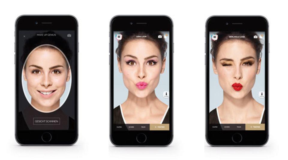 "Lena und die neue Schmink-App von L'Oréal Paris ""Makeup Genius"""
