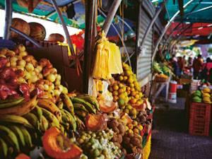 Bunter Markt auf Curaçao