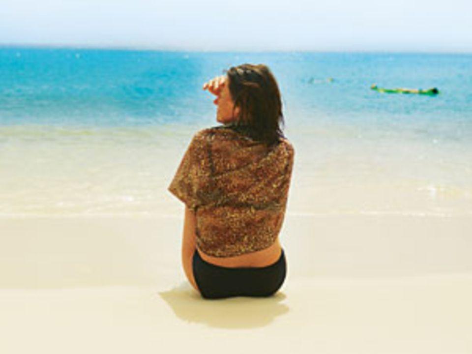 Anne-Bärbel Köhle relaxt auf Klein Curaçao