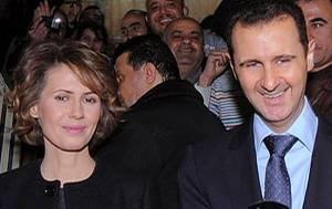 Asma al-Assad mit ihrem Mann, dem syrischen Präsidenten Baschar al-Assad