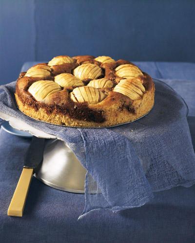 Obst UND Schokolade - besser geht's doch gar nicht! Versunkener Apfelkuchen, bei dem die Äpfel halb im Marmorkuchenteig verschwinden. Einfach nur lecker! Wer möchte, kann mit einem kleinen bisschen Calvados verfeinern. Zum Rezept: Versunkener Apfelkuchen