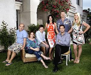 Neue Serie: Maklerin Jules im Kreise ihrer Lieben: Sohn Travis, Ex-Mann Bobby und ihre Nachbarn.
