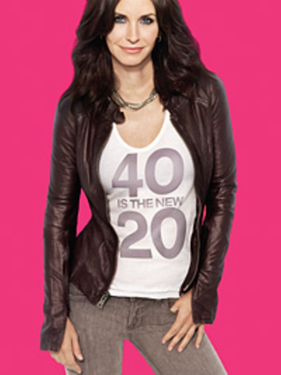 "Courtney Cox' Motto in ""Cougar Town"": ""40 is the new 20""."