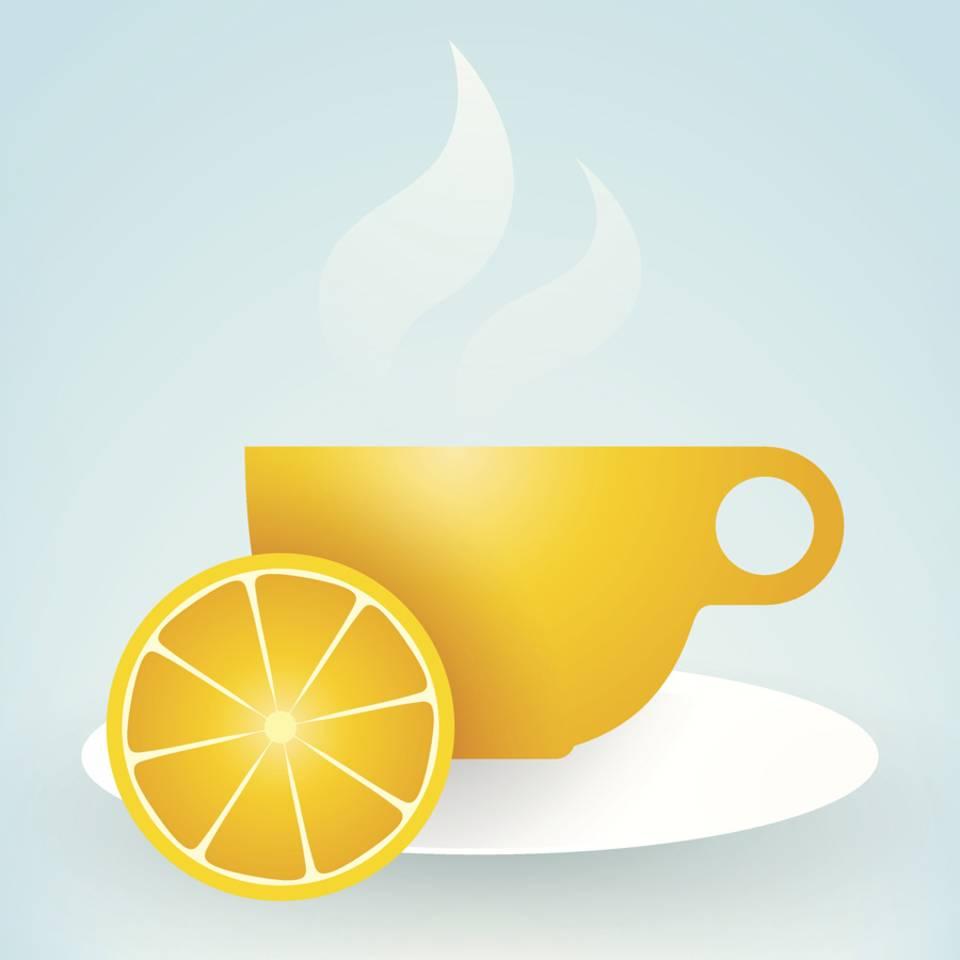Zitrone im Tee, Obst mit Schokolade - starke Doppel