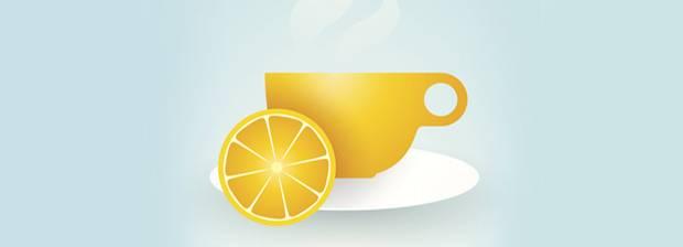 Schlauer Essen Zitrone Im Tee Obst Mit Schokolade Starke Doppel