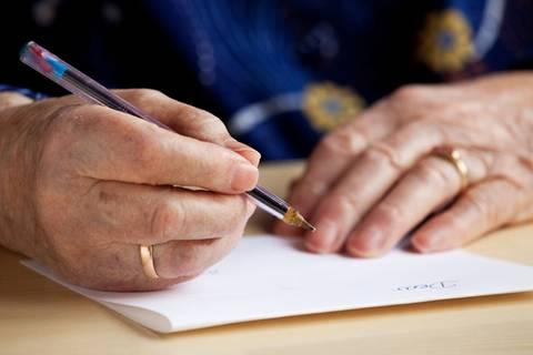 Abschiedsbrief: Was eine alte Dame ihrem Mann noch sagen wollte