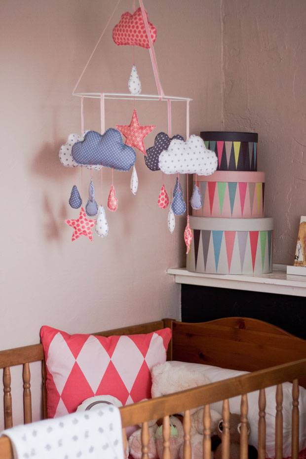 Babyzimmer ideen zum selber machen  DIY-Ideen: Ein süßes Mobile selber machen - so geht's! | BRIGITTE.de