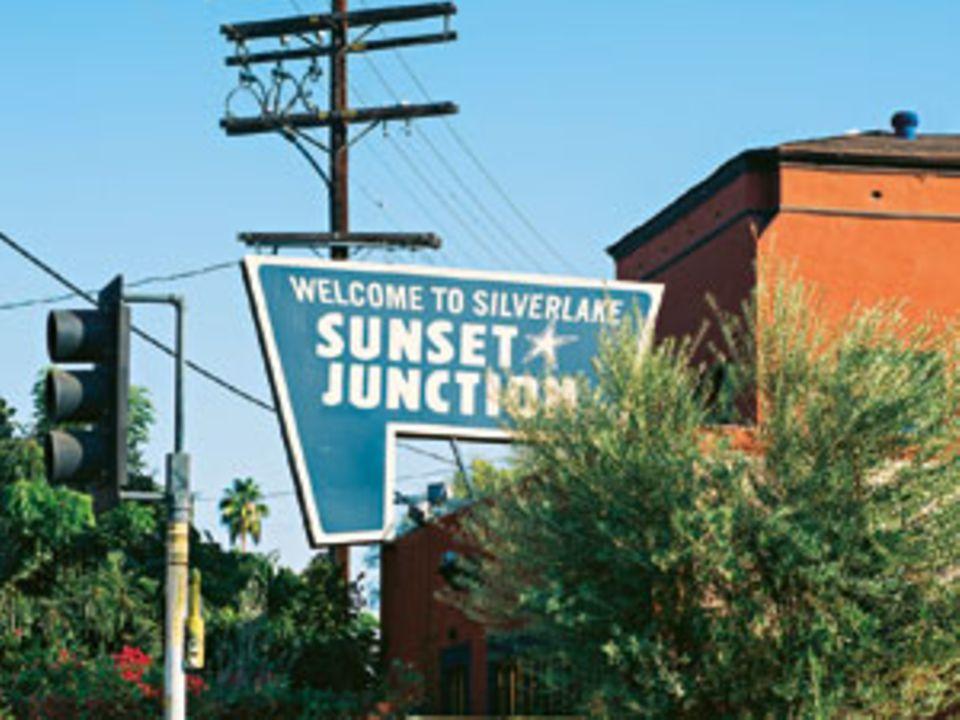 Die Kreativen und Attraktiven wohnen in diesem Viertel und laufen sich an der Sunset Junction über den Weg